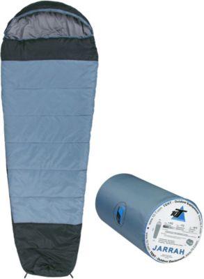 10T Jarrah XXL Camping Schlafsack bis -16°C Outdoor Mumienschlafsack 230x85cm Hüttenschlafsack mit 1700g Trekking Reiseschlafsack für 3 / 4 Jahreszeiten Frühling Sommer Herbst