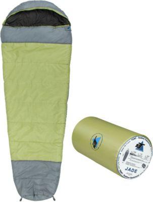 10 T Outdoor Equipment 10T Jade - Mumien-Schlafsack bis -16°C mit Kapuze, 230x85 cm, 1800g leicht, 3 Jahreszeiten, Camping & Trekking
