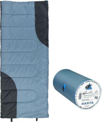 10 T Outdoor Equipment 10T Hanya - Decken-Schlafsack bis -6°C ohne Kapuze, 180x75 cm, 900g leicht, 2-3 Jahreszeiten, Camping & Trekking
