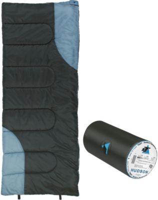 10 T Outdoor Equipment 10T Hudson - Decken-Schlafsack bis -13°C ohne Kapuze, 200x80 cm, 1400g leicht, 3 Jahreszeiten, Camping & Trekking