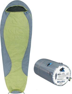 10 T Outdoor Equipment 10T Niley - Mumien-Schlafsack bis -8°C mit Kapuze, 225x80 cm, 1000g extrem leicht, 3 Jahreszeiten, Camping & Trekking