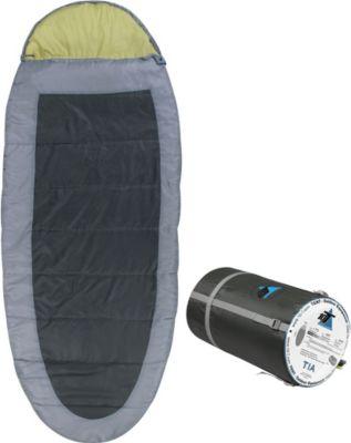 10 T Outdoor Equipment 10T Tia XL Camping Schlafsack bis -13°C Outdoor Deckenschlafsack 200x100cm , eiförmiger Hüttenschlafsack mit 1900g Trekking Reiseschlafsack für 3 / 4
