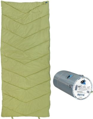 10 T Outdoor Equipment 10T Seth - XL Decken-Schlafsack bis -7°C ohne Kapuze, 200x80 cm, 1200g leicht, 2-3 Jahreszeiten, Camping & Trekking
