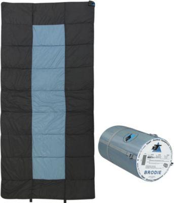 10 T Outdoor Equipment 10T Brodie - XXL Decken-Schlafsack bis -13°C ohne Kapuze, 200x100 cm, 2000g leicht, 3 Jahreszeiten, Camping & Trekking