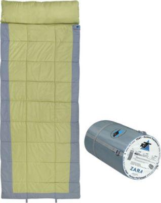 10 T Outdoor Equipment 10T Zara XXL Camping Schlafsack bis -19°C Outdoor Deckenschlafsack 230x90 cm Hüttenschlafsack mit 2250g Trekking Reiseschlafsack für 3 / 4 Jahreszeite