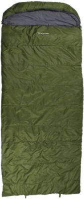 10 T Outdoor Equipment 10T Kenai Green - Einzel Decken-Schlafsack mit Halbmond-Kopfteil Komfortmaße 235x100cm grün bis -21°C