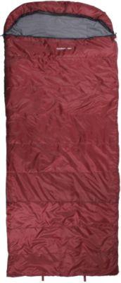 10 T Outdoor Equipment 10T Kodiak Red - Einzel Decken-Schlafsack mit Halbmond-Kopfteil Komfortmaße 235x100cm rot bis -21°C