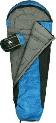10 T Outdoor Equipment 10T Yukon 175L Camping Schlafsack bis -5°C Outdoor Mumienschlafsack 205x75cm Hüttenschlafsack mit 1400g Trekking Reiseschlafsack für 3 / 4 Jahreszeite