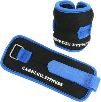 Carnegie Neopren Gewichtsmanschette 2x 250g Handgelenk Fußgelenk Manschette, Laufgewicht mit Klettverschluß