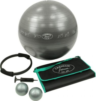 Carnegie Fitness Carnegie Yoga Pilates Fitness Set - Gymnastikball, Pilates Ring, Toning Balls und Matte