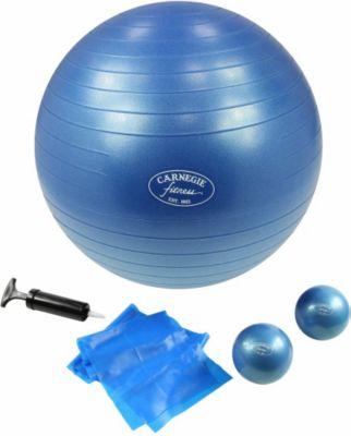 Carnegie Fitness Carnegie Pilates Set Toning Bälle 450g Pilates Band 120cm Gymnastikball ø 65cm