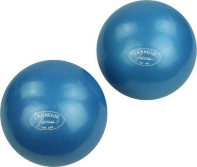 Carnegie Fitness Carnegie Toning Ball Set 2x Gewichtsball 1kg Ø 12 cm Hantelball Krafttraining