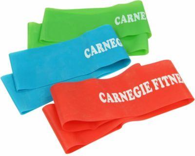 Carnegie Fitness Carnegie 3x Trainingsband Fitness-Band Expander Widerstand Übungs-Loop 52x5 cm