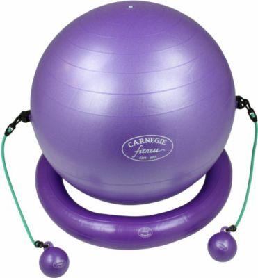 Carnegie Fitness Carnegie Iso Gymnastikball + Ring Widertstandsband Tubes Toning Balls DVD Poster