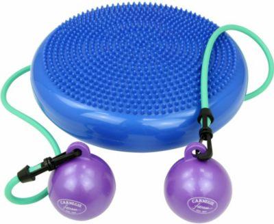 Carnegie Fitness Carnegie H²O Pilates Kissen Toning Balls Widerstandsband Balance Board Ballsitz