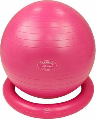 Carnegie Fitness Carnegie Gymnastikball Ø 65 cm Massageball Fitnessball Sitzball Pumpe Ballschale