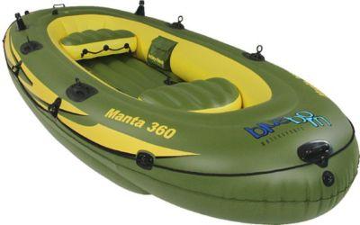 Blueborn  Boat Manta 360 - 4 Personen Ruderboot, Angelboot 352x165cm (Tragfähigkeit 400 kg)
