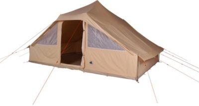 10T Camping-Zelt Sudan 4-8 Tipi mit XXL Schlafbereich für 4 - 8 Personen Outdoor Familienzelt aus Baumwolle (Mischgewebe 35/65), Hauszelt Idianerzelt mit Wohnraum, eingenähte Bodenwanne, wasserdicht