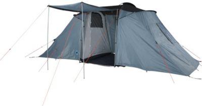 10T Camping-Zelt Warwick 6 Vis-A-Vis Tunnelzelt mit Schlafkabinen für 6 Personen Outdoor Familienzelt mit Wohnraum, Sonnendach Aufstellstangen, wasser