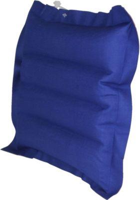 10 T Outdoor Equipment 10T Ruby Head Box Baumwoll-Box-Kissen 30x30x7cm Reisekissen Luftkissen Kopfkissen aufblasbares Kissen mit Aussenbezug aus Baumwolle im rot - blauen Re