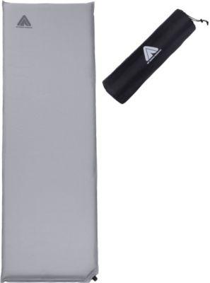 10 T Outdoor Equipment 10T Tom 600 - Selbstfüllende Iso-Matte mit Kunststoffventil grau TPU-Beschichtung 193x63x6cm
