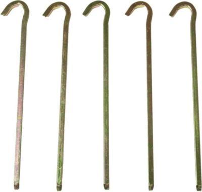 10T Zelthering PEG IT 5VK 22EV Stahl Vierkant Hering, 22cm Zeltnagel, Zeltpflock, Erdnagel, Erdanker im Set mit 5 Stück