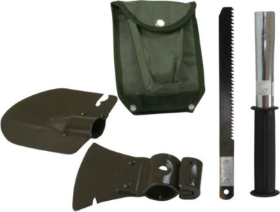 10 T Outdoor Equipment 10T Mini-Toolkit - 5-in-1 Werkzeug-Set in Tasche Klappspaten Säge Hammer Beil Öffner