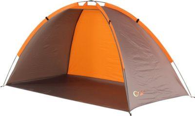 Jota UV 40 Strandmuschel Strand-Zelt 200x100x100 cm Windschutz Sonnenschutz mit Bodenplane Packsack & Zubehör