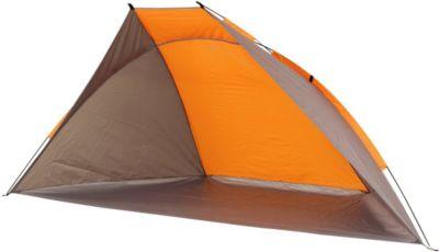 Tau XL UV 40 Strandmuschel Strand-Zelt 270x120x120 cm Windschutz Sonnenschutz mit Bodenplane Packsack & Zubehör