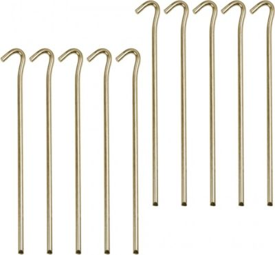 10T PEG IT 10RH 23SV - Stahl Zelt-Hering 10er-Set, ø 7mm x 23 cm Zeltnagel, Zeltpflock, Erdnagel, Erdanker im Set mit 10 Stück