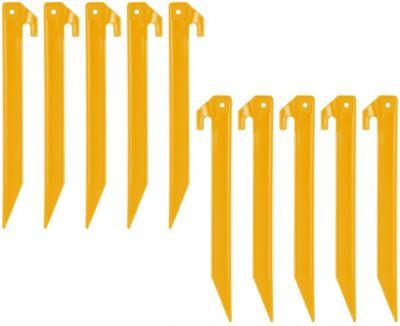 10T PEG IT 10TH 22ABS - ABS Kunststoff T-Profil Hering, Zelthering im 10er-Set, 220x20x20 mm Zeltnagel, Zeltpflock, Erdnagel, Erdanker im Set mit 10 Stück