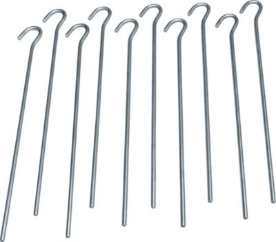 10T PEG IT 10RD 30SV - Stahl Zelt-Hering 10er-Set, 30 cm Zeltnagel, Zeltpflock, Erdnagel, Erdanker im Set mit 10 Stück