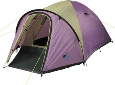 10T Camping-Zelt Scone 3 Kuppelzelt mit Schlafkabine für 3 Personen Outdoor Familienzelt mit Vorraum, Dauerbelüftung, Bodenplane, wasserdicht mit 5000mm Wassersäule