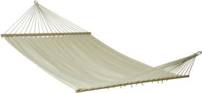 10 T Outdoor Equipment 10T Island Double - Doppel Stab-Hängematte Baumwolle natur Holz Liegefläche 180x145cm