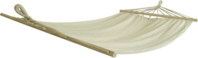 10 T Outdoor Equipment 10T Island Twin - Stab-Hängematte Extrabreit Baumwolle natur Holz Liegefläche 190x115cm