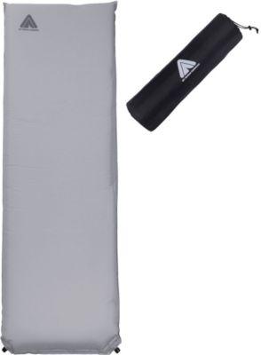 10T Tom 1000 - Selbstfüllende Iso-Matte mit Kunststoffventil grau TPU-Beschichtung 193x63x10 cm