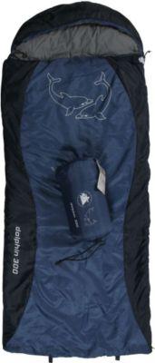 10 T Outdoor Equipment 10T Dolphin 300 - Kinder Decken-Schlafsack mit Halbmond-Kopfteil 180x75cm blau/dunkelblau Motivdruck bis +10°C
