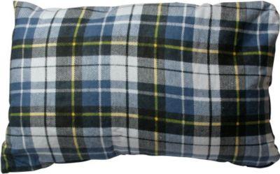 10T Camp Pillow - Reise Schlaf-Kissen 40x25cm mit integriertem Schutz-Futteral kariert 250g