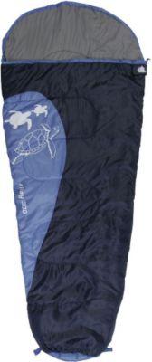 10 T Outdoor Equipment 10T Riley XXL Kinderschlafsack 180x80cm Mumienschlafsack mit Schildkröten Motiv Schlafsack mit bauschiger 300g/m² Füllung und Soft-Touch Material inne