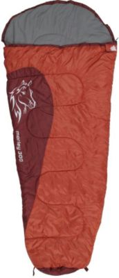 10 T Outdoor Equipment 10T Morley 300 - Kinder Mumien-Schlafsack 180x80cm rot/orange Motivdruck bis +10°C