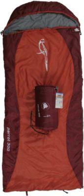 10 T Outdoor Equipment 10T Parrot 300 - Kinder Decken-Schlafsack mit Halbmond-Kopfteil 180x75cm rot/orange Motivdruck bis +10°C