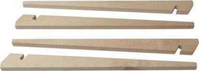 10 T Outdoor Equipment 10T Zelthering 4KL 40HH Holzpflog, 40 cm Zeltpflock, Zeltnagel, Erdnagel, Erdanker im Set mit 4 Stück