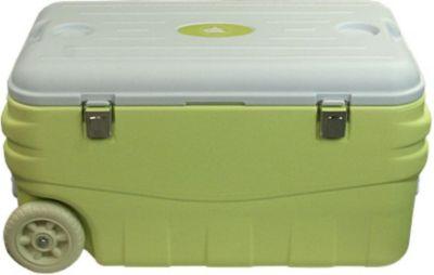 10T Fridgo 80 - Kühlbox passiv 80 Liter mit Rädern und Tragegriffen Bodenablauf lemon 77x44x41cm