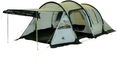 10T Camping-Zelt Felton 3 Tunnelzelt mit Schlafkabine für 3 Personen Outdoor Trekkingzelt mit Wohnraum, Dauerbelüftung, Sonnendach Aufstellstangen, wasserdicht mit 5000mm Wassersäule