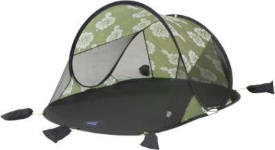 10 T Outdoor Equipment 10T Flower Beach - Pop Up Strandmuschel 200x125x90cm Wind- & Sonnenschutz