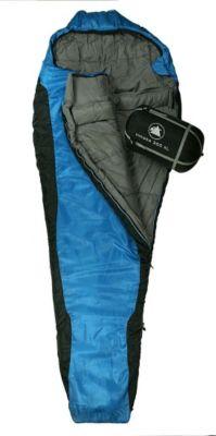 10 T Outdoor Equipment 10T Innoko 300XL - Einzel Mumien-Schlafsack 230x85/55cm schwarz/blau Winterschlafsack bis -18°C