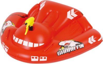 Shark Fin Rider 119x95 cm Kinderboot Boot Gummiboot Badeboot mit Spritzpistole Schlauchboot Wasser-Spielzeug geeignet für Süß- und Salzwasser