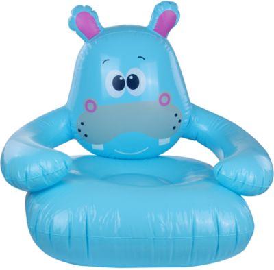 Hippo Sofa - aufblasbarer Kinder Sessel, Kinder Sofa, für Kinder ab 3 Jahren, 78x70x66 cm