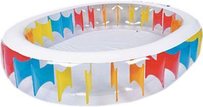 Jilong Oval Rainbow Pool - transparenter Famili...