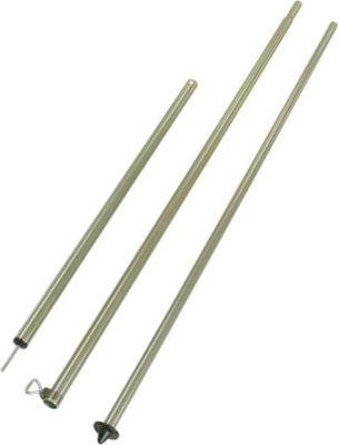 10 T Outdoor Equipment 10T Tele-Setup 250 Teleskopstange Zeltstange aus Stahl 3-teilig stufenlos verstellbar 165-250cm, Arretierung per Klemmschraube, Bodenspitze, Tarpstang